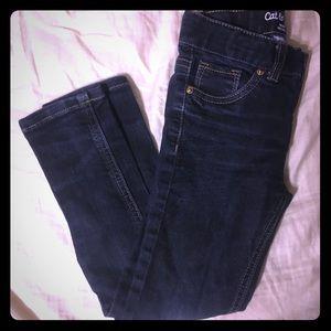 Girl dark wash skinny jeans